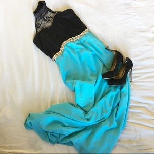 Dresses & Skirts - ✨Cute Lace Turtle Neck Baby Blue Prom Dress✨